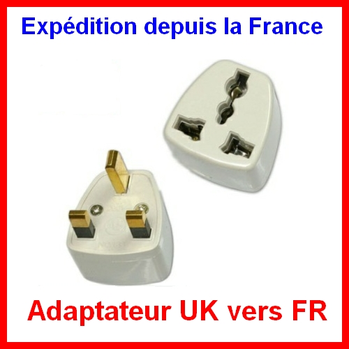 adaptateur secteur prise fr france be eu vers angleterre uk. Black Bedroom Furniture Sets. Home Design Ideas